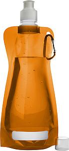 DUNCAN Rolovací plastová láhev s klipem, 420ml, oranžová