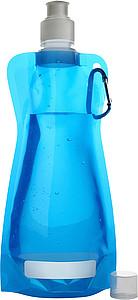 DUNCAN Rolovací plastová láhev s klipem, 420 ml, modrá