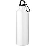 Jednoplášťová láhev s karabinou, bílá