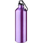 Jednoplášťová láhev s karabinou, objem 770 ml, fialová