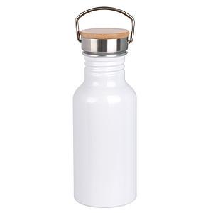 Jednostěnná hliníková láhev na pití, 550ml, bílá
