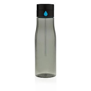 Tritanová láhev Aqua sledující pitný režim, černá