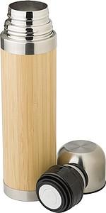 Termoska 400ml s povrchem z bambusu
