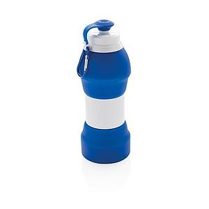 Skládací silikonová sportovní láhev, královská modrá
