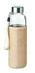 Skleněná láhev na pití s obalem z juty a neoprenu, 500ml