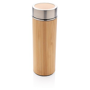 Bambusová nepropustná termo láhev, hnědá