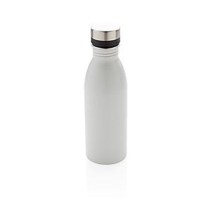 Láhev na vodu z nerezavějící oceli, bílá