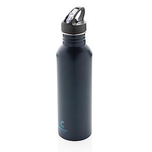 Športová fľaša na vodu z nehrdzavejúcej ocele, námořní modrá