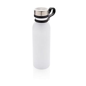 Nepropustná termo láhev s měděnou izolací a poutkem, bílá