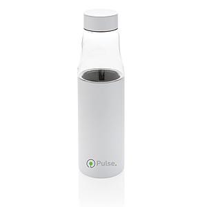 Nepropustná skleněná termo láhev Hybrid, bílá