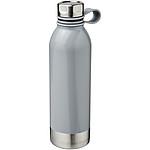 Větší sportovní láhev z nerezové oceli, objem 740 ml, bílá