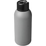 Sportovní láhev s vakuovou izolací a očkem na zavěšení, objem 375 ml, bílá