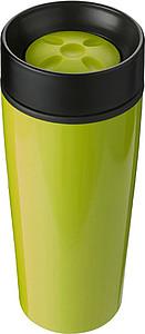 BERGIL Dvoustěnný cestovní hrnek, nerez/plast, 0,45 l, zelený