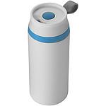 Dvouplášťový termohrnek o objemu 350 ml, bílá, modrá