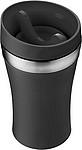 LAMO Dvoustěnný cestovní hrnek, plast/nerez, 0,35 l, černý