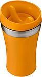 LAMO Dvoustěnný cestovní hrnek, plast/nerez, 0,35 l, oranžový