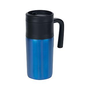 KRUM Termohrnek 330ml, uvnitř černý plast, modrý