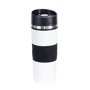 JAKOPEC Nerezový termohrnek o objemu 400ml, bílo černý