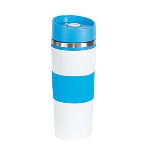 JAKOPEC Nerezový termohrnek o objemu 400ml, bílo modrý