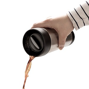 PAROL Korkový termohrnek, černá