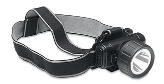 Čelovka pro cyklisty, 1 LED světlo, černá