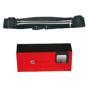 SCHWARZWOLF RAVIK multifunkční elastický pás s kapsou, černý