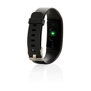 Fitness náramek s monitorem srdečního tepu, černá