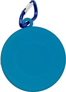 BANTON Skládací kelímek s karabinou, modrý