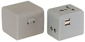 KLOVER Cestovní adaptér s přepínačem pro UK, Evropu, USA, Austrálii a Asii