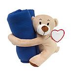 Dětská deka s plyšovým medvídkem, modrá