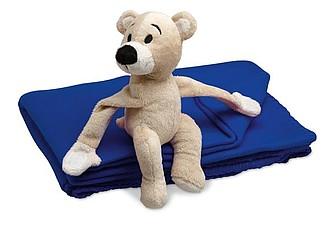 MANTA Dětská deka s medvídkem, modrá