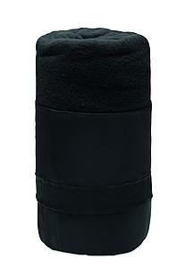 Fleecová deka z RPET, 120x150cm, černá