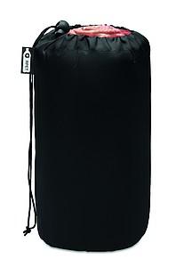 Károvaná fleecová deka z RPET, 120x150cm, červená