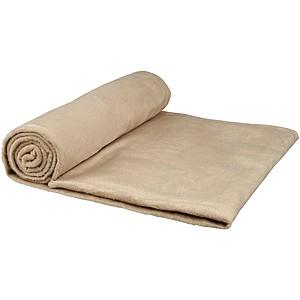 Mikroplyšová fleece deka s obalem, béžová