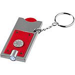 Klíčenka s mincí do nákupního vozíku, stříbrná
