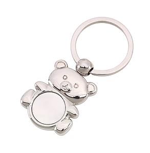 Kovový přívěšek na klíče ve tvaru medvídka