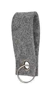 Plstěný přívěšek na klíče, šedý