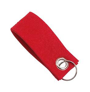Plstěný přívěšek na klíče, červený