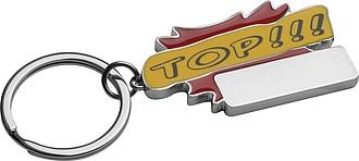 """Kovový přívěsek na klíče """"TOP """", červený"""
