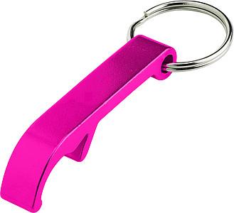 ALVAR Kovový otvírák - přívěsek na klíče, růžový