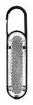 VIOLETA Přívěsek na klíče s LED světlem a karabinou, bílá