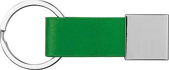 Klíčenka s poutkem ze syntetické kůže, zelená