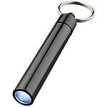 RIBANA - LED svítilna s povrchovou úpravou UV a kroužkem na klíče, černá