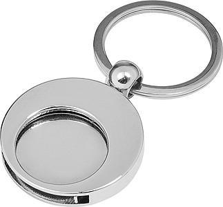 LENTISA Kovová klíčenka s žetonem