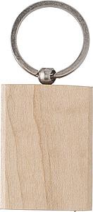 Dřevěný přívěšek na klíče