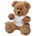 Plyšový medvídek v tričku, bílá