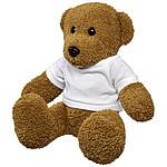 Velký plyšový medvěd v tričku, bílá