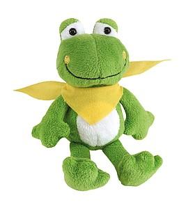 BERNO Plyšový žabák se žlutým šátkem