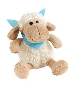 ROSI Plyšová ovečka s modrým šátkem