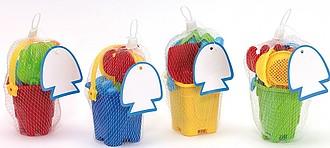 Formičky a hračky na písek, nadruženo ze 4 barev